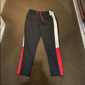 Men's Multi-Color (Black/Red/White) Track Pants.